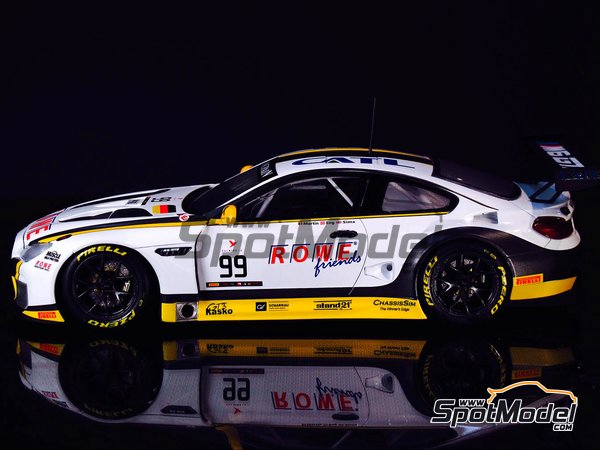 Image 8: BMW M6 GT3 - 24 Hours SPA Francorchamps 2016 | Model car kit in 1/24 scale manufactured by Platz (ref. PN24001)