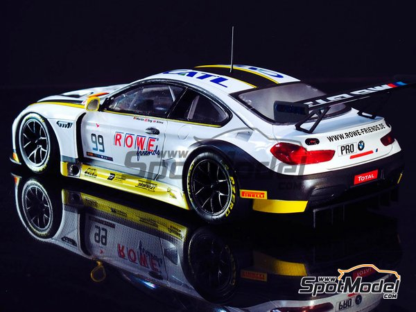 Image 10: BMW M6 GT3 - 24 Hours SPA Francorchamps 2016 | Model car kit in 1/24 scale manufactured by Platz (ref. PN24001)