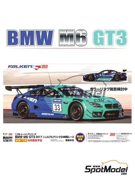 BMW M6 GT3 Falken Motorsports - 24 Hours Nürburgring 2017 | Model car kit in 1/24 scale manufactured by Platz (ref.PN24002) image