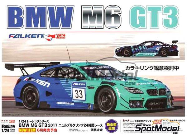 Image 1: BMW M6 GT3 Falken Motorsports - 24 Hours Nürburgring 2017 | Model car kit in 1/24 scale manufactured by Platz (ref.PN24002)