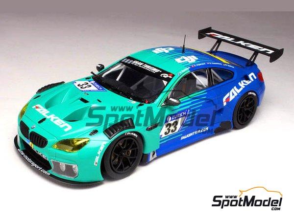 Image 2: BMW M6 GT3 Falken Motorsports - 24 Hours Nürburgring 2017 | Model car kit in 1/24 scale manufactured by Platz (ref.PN24002)