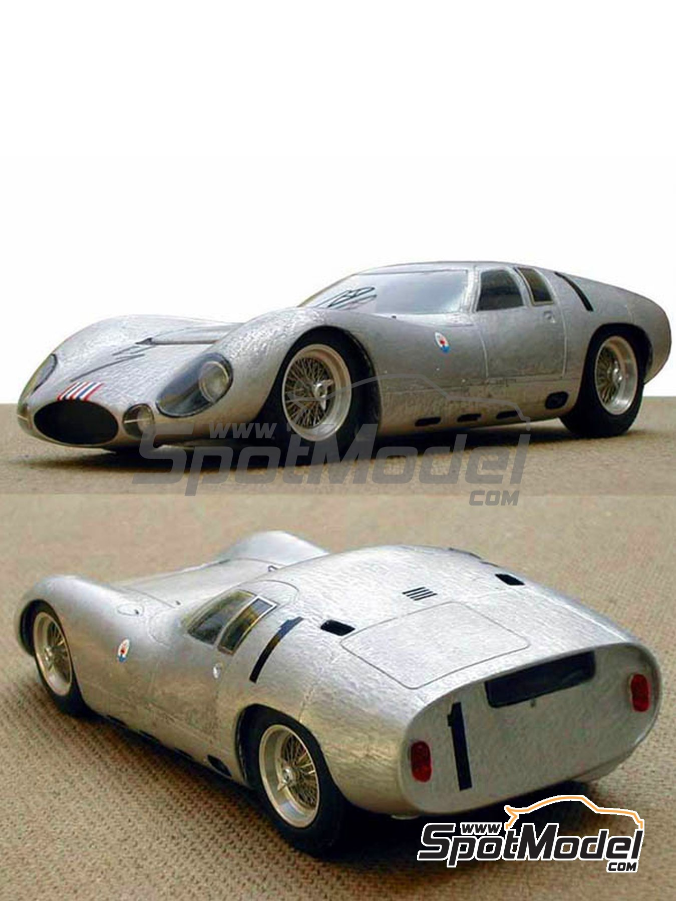 Maserati Tipo 151/3 - 24 Hours Le Mans 1964 | Model car kit in 1/24 scale manufactured by Profil24 (ref. P24030) image