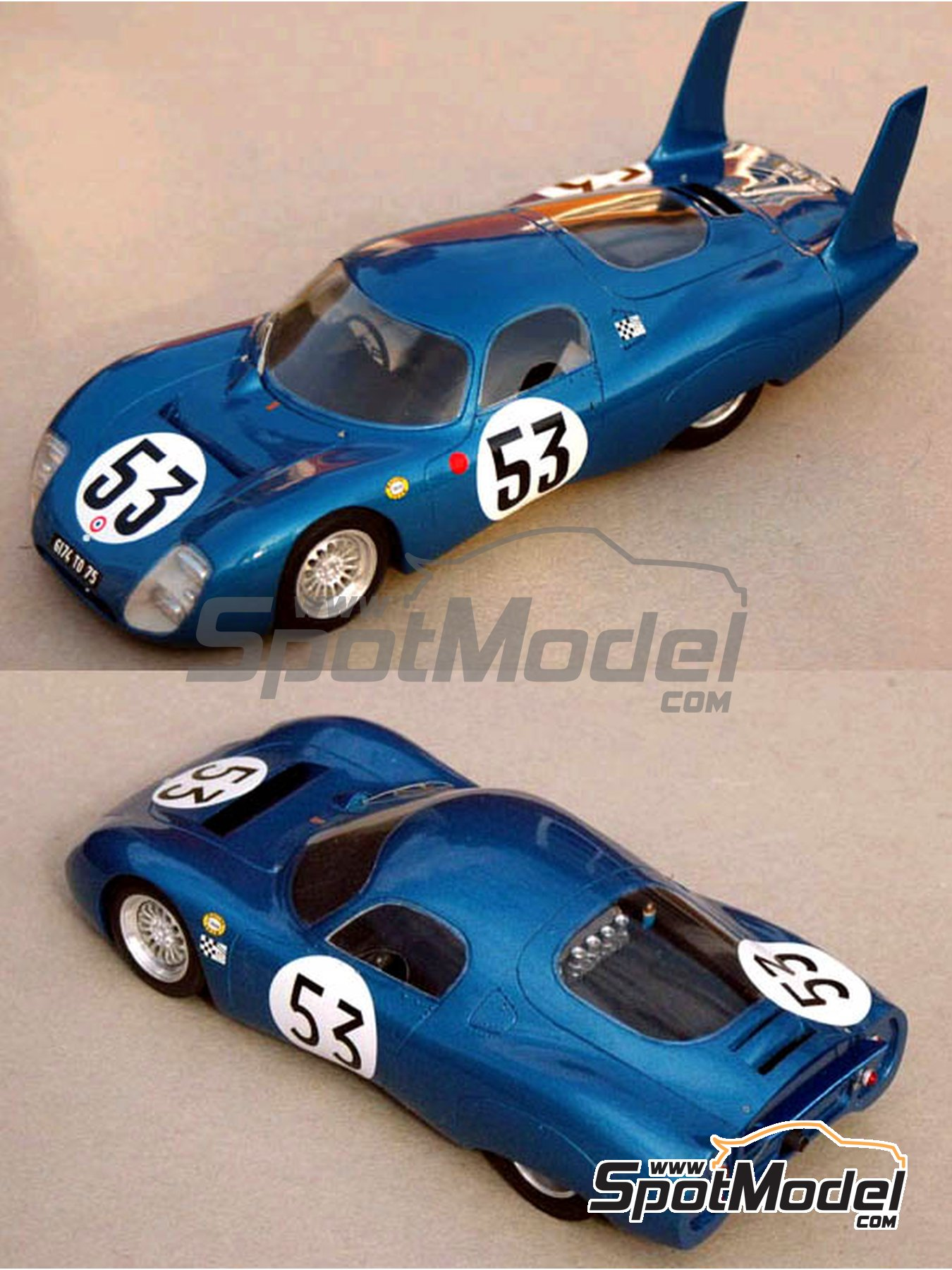 CD Peugeot SP 66 - 24 Hours Le Mans 1966, 1967 | Model car kit in 1/24 scale manufactured by Profil24 (ref. P24043) image