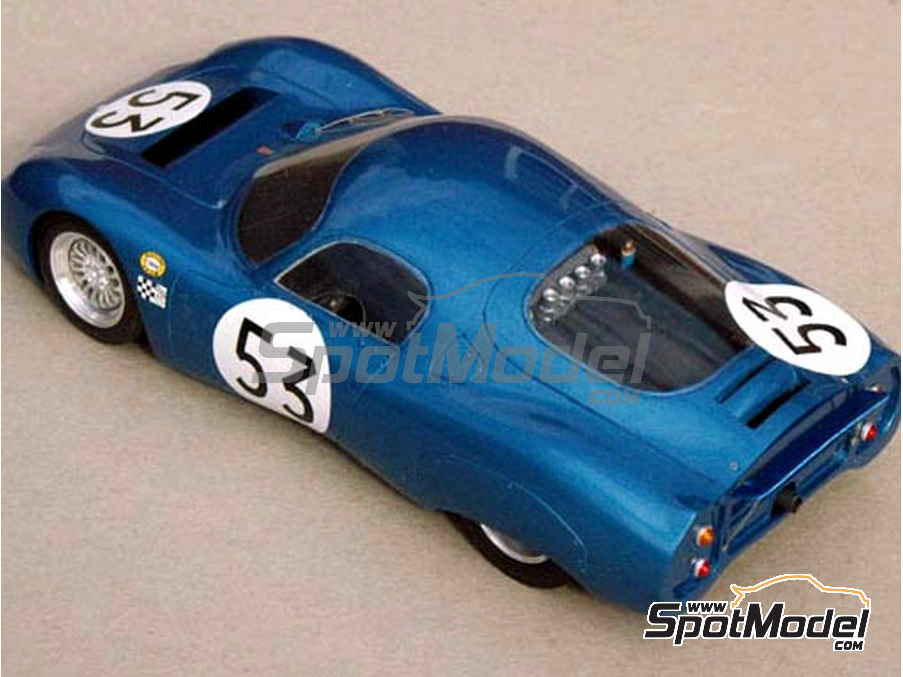 Image 2: CD Peugeot SP 66 - 24 Hours Le Mans 1966, 1967 | Model car kit in 1/24 scale manufactured by Profil24 (ref. P24043)