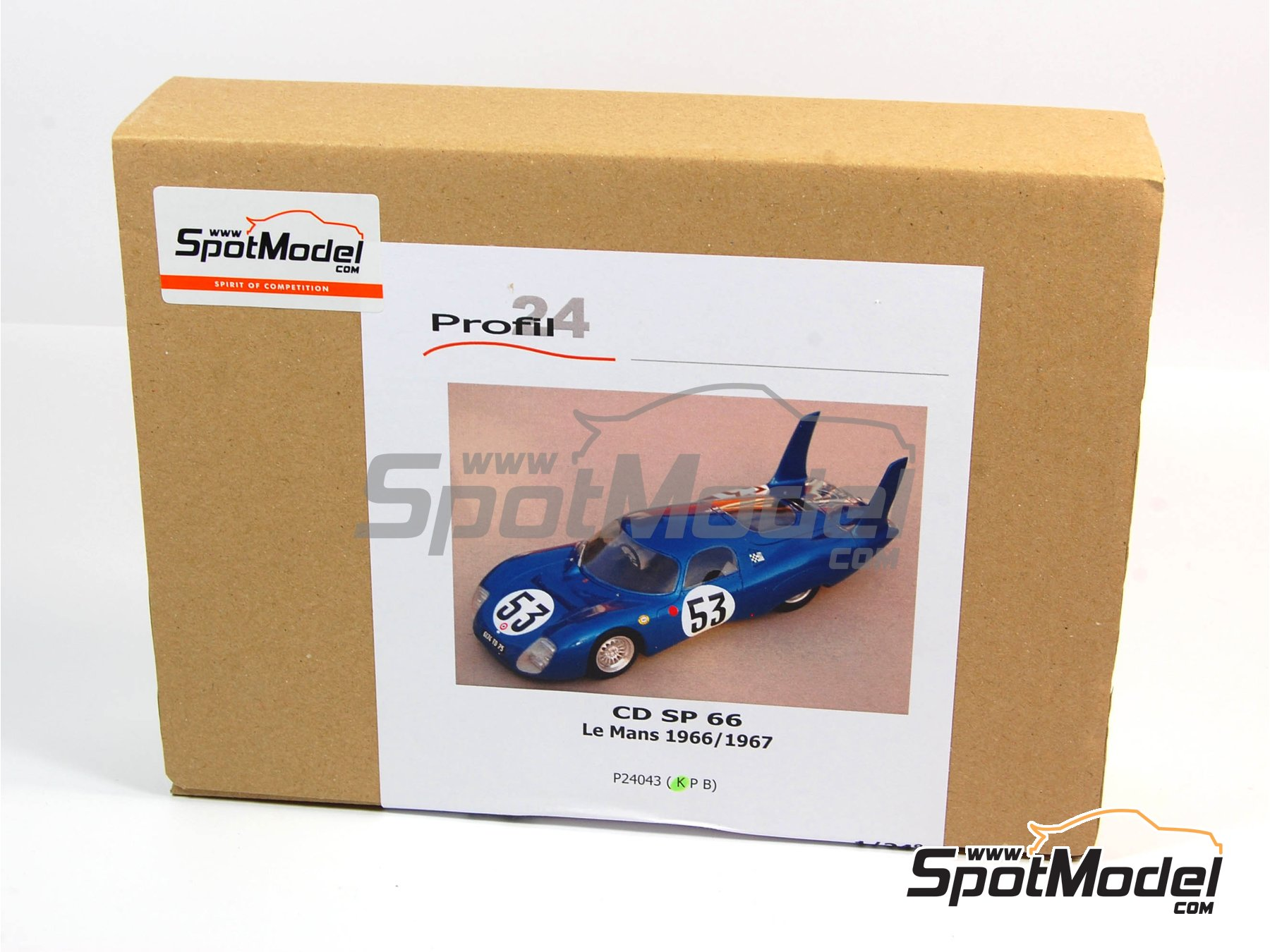 Image 3: CD Peugeot SP 66 - 24 Hours Le Mans 1966, 1967 | Model car kit in 1/24 scale manufactured by Profil24 (ref. P24043)