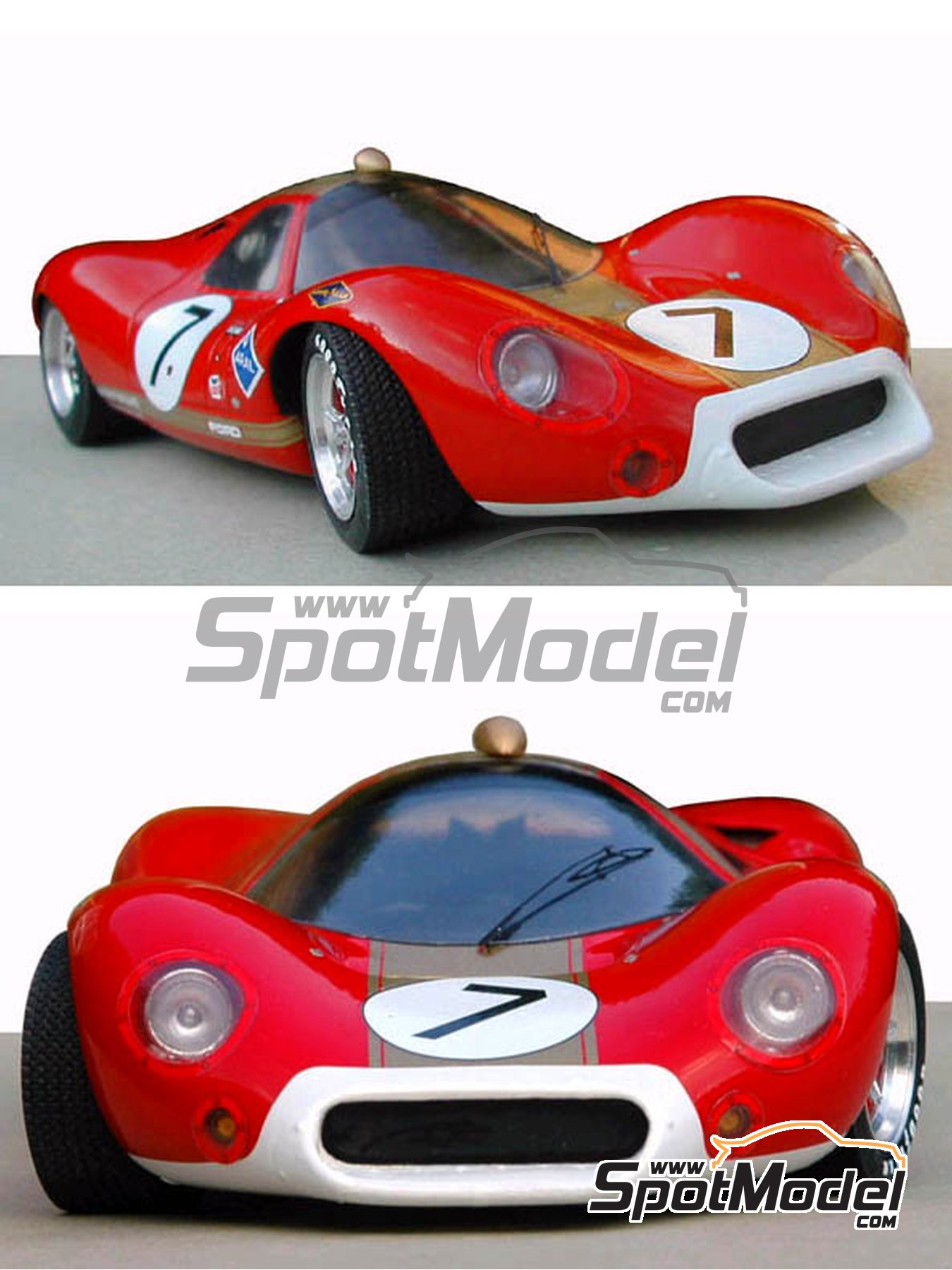 Ford P68 Alan Mann - 1000 Kms Nürburgring 1968   Model car kit in 1/24 scale manufactured by Profil24 (ref.P24046) image