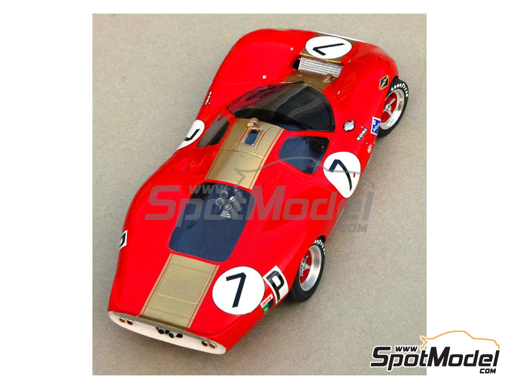 Image 4: Ford P68 Alan Mann - 1000 Kms Nürburgring 1968   Model car kit in 1/24 scale manufactured by Profil24 (ref.P24046)
