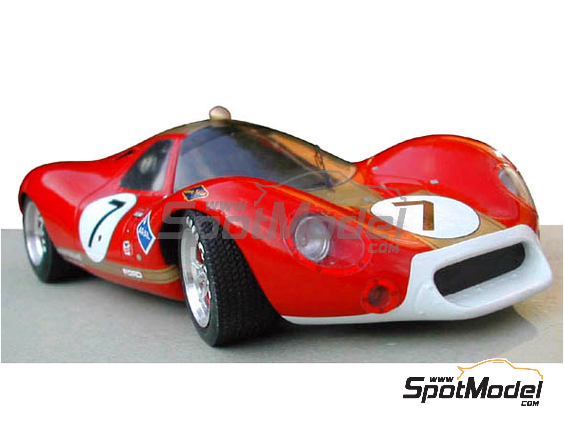 Image 7: Ford P68 Alan Mann - 1000 Kms Nürburgring 1968   Model car kit in 1/24 scale manufactured by Profil24 (ref.P24046)