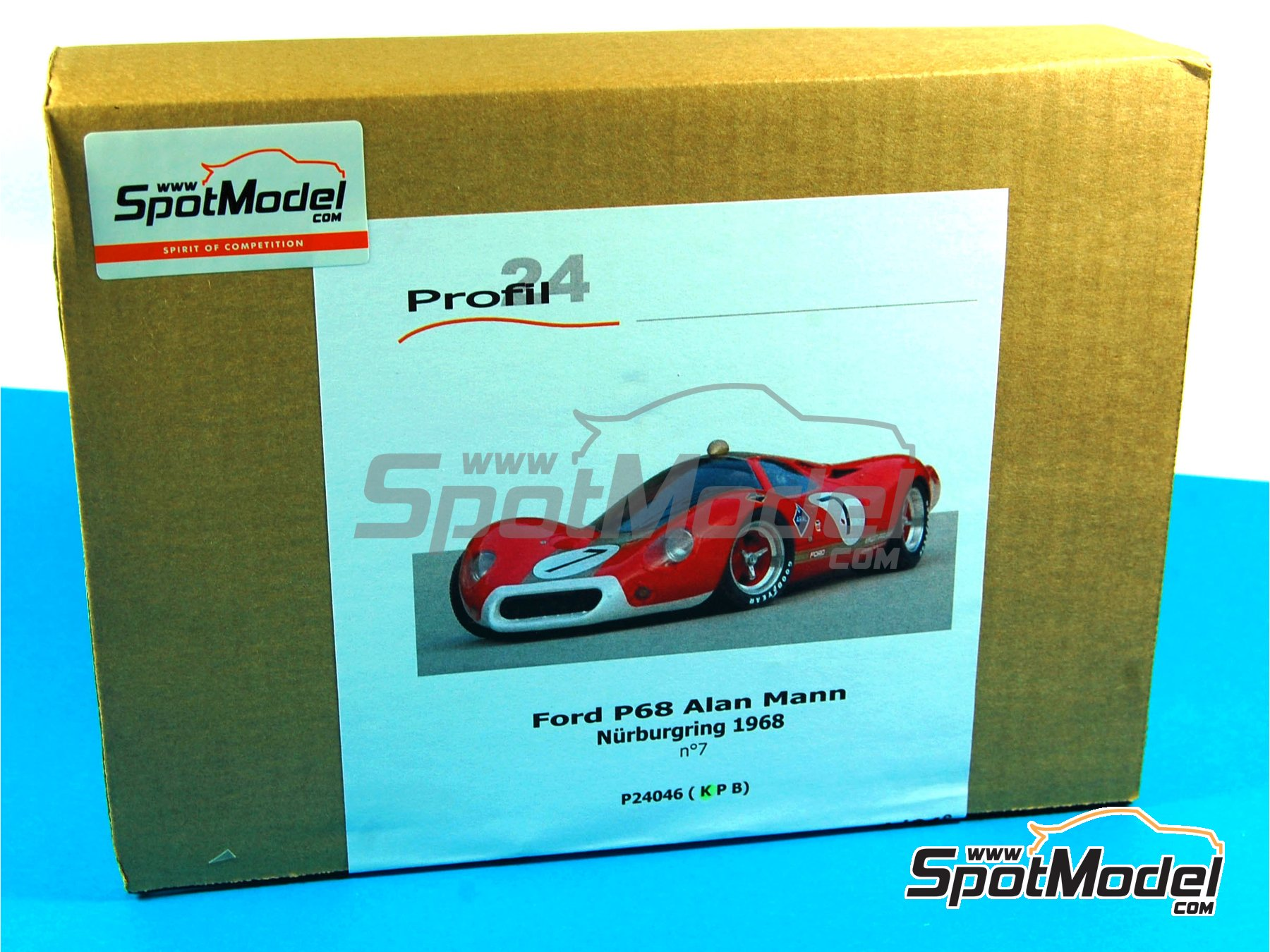 Image 24: Ford P68 Alan Mann - 1000 Kms Nürburgring 1968   Model car kit in 1/24 scale manufactured by Profil24 (ref.P24046)