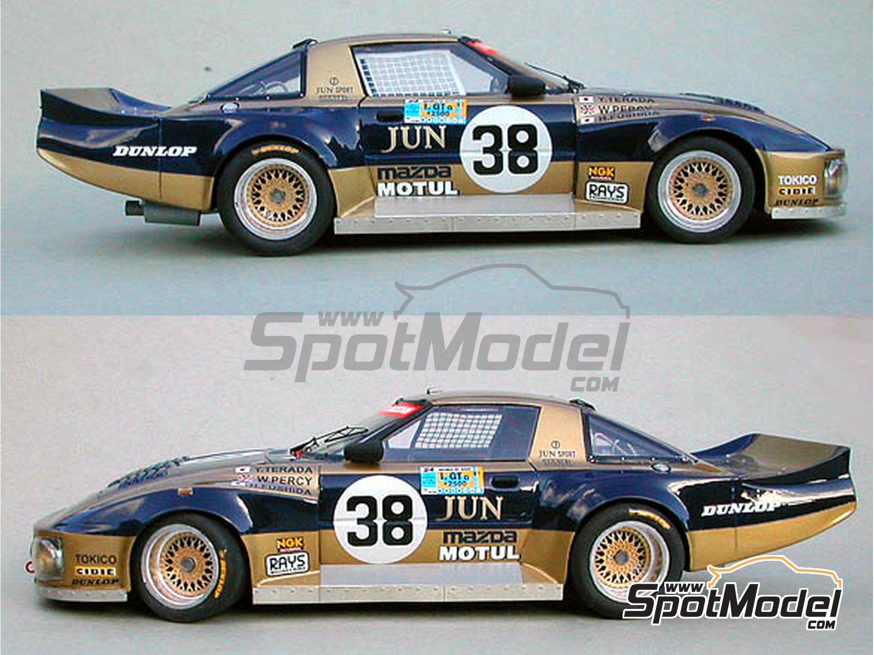 ... Image 5: Mazda RX7 JUN   24 Hours Le Mans 1981 | Model Car Kit ...