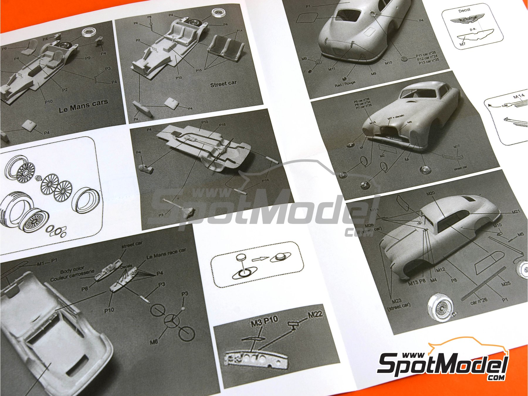 Image 6: Aston Martin DB2 - 24 Hours Le Mans | Model car kit in 1/24 scale manufactured by Profil24 (ref.P24098)