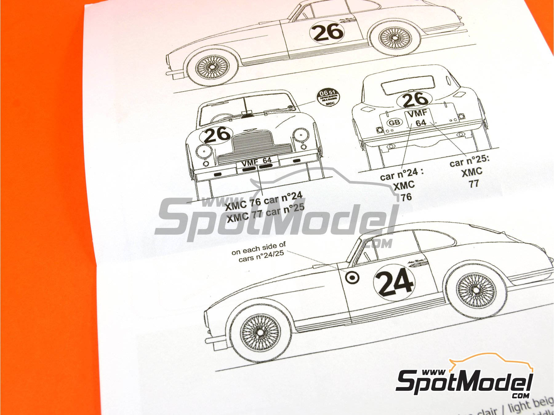 Image 7: Aston Martin DB2 - 24 Hours Le Mans | Model car kit in 1/24 scale manufactured by Profil24 (ref.P24098)