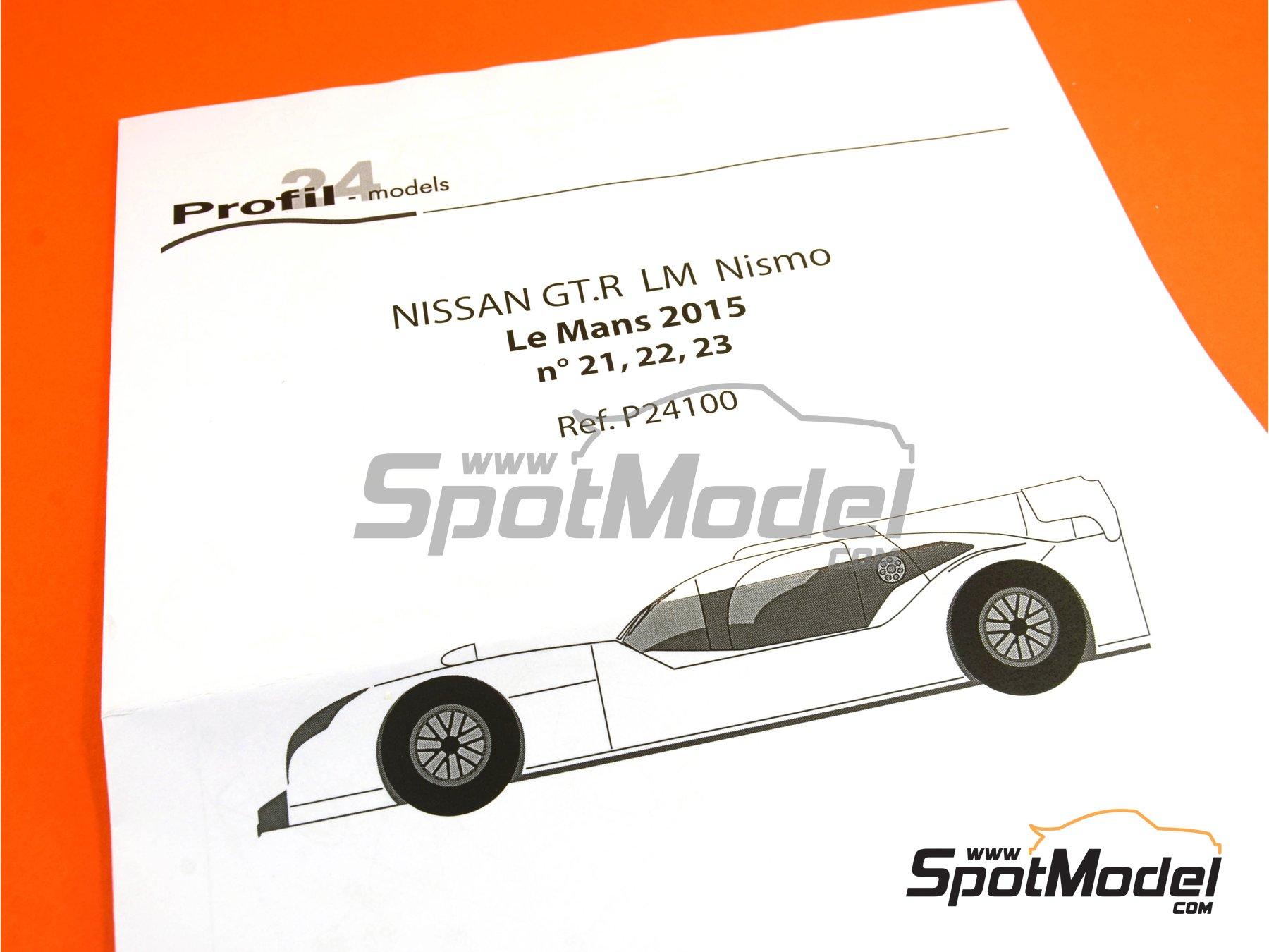 Image 20: Nissan GT-R LM Nismo Nismo - 24 Horas de Le Mans 2015 | Maqueta de coche en escala1/24 fabricado por Profil24 (ref.P24100)