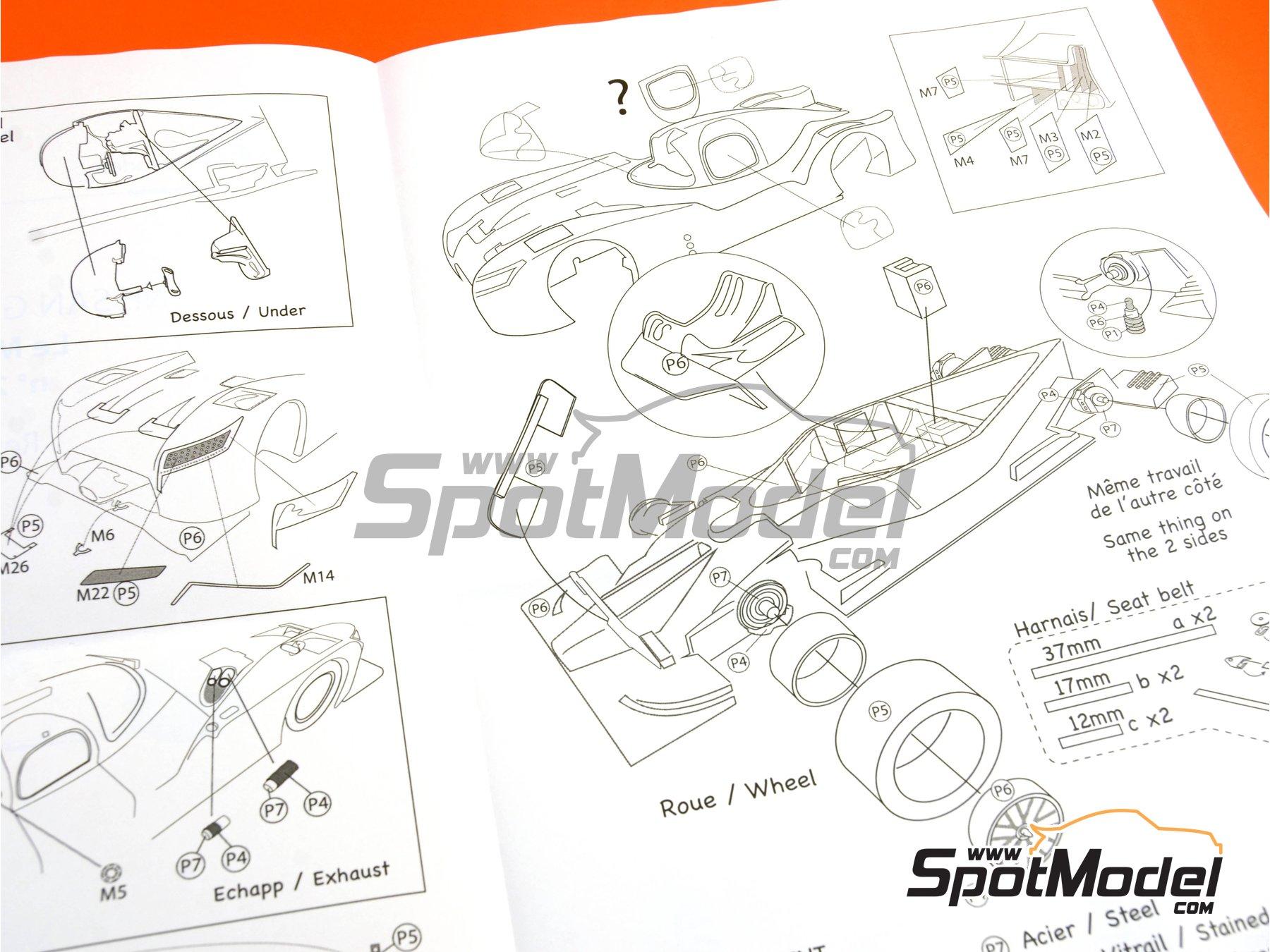 Image 21: Nissan GT-R LM Nismo Nismo - 24 Horas de Le Mans 2015 | Maqueta de coche en escala1/24 fabricado por Profil24 (ref.P24100)