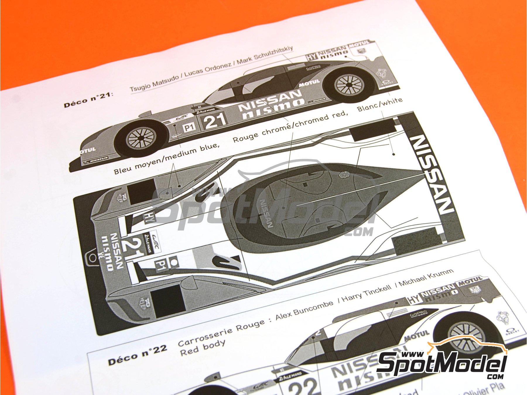 Image 22: Nissan GT-R LM Nismo Nismo - 24 Horas de Le Mans 2015 | Maqueta de coche en escala1/24 fabricado por Profil24 (ref.P24100)