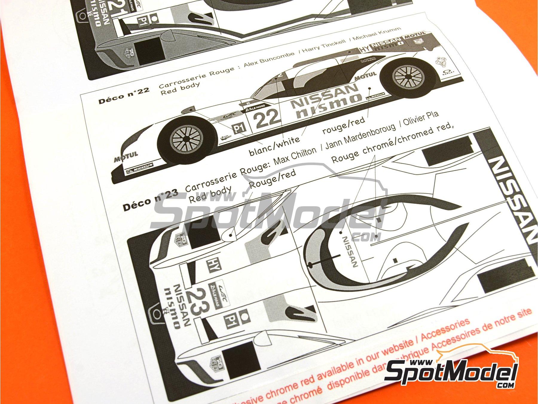 Image 23: Nissan GT-R LM Nismo Nismo - 24 Horas de Le Mans 2015 | Maqueta de coche en escala1/24 fabricado por Profil24 (ref.P24100)