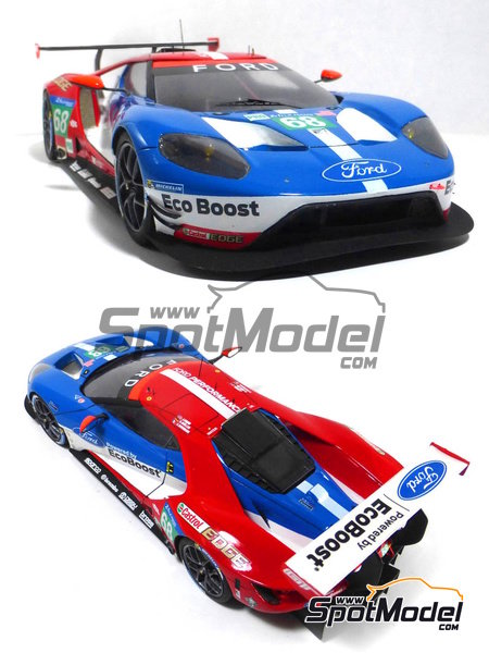 Ford GT - 24 Hours Daytona, 24 Hours Le Mans 2016 | Model car kit in 1/24 scale manufactured by Profil24 (ref. P24103) image