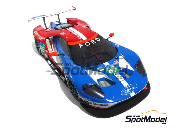 Image 1: Ford GT - 24 Hours Daytona, 24 Hours Le Mans 2016 | Model car kit in 1/24 scale manufactured by Profil24 (ref. P24103)
