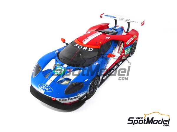 Image 2: Ford GT - 24 Hours Daytona, 24 Hours Le Mans 2016 | Model car kit in 1/24 scale manufactured by Profil24 (ref. P24103)