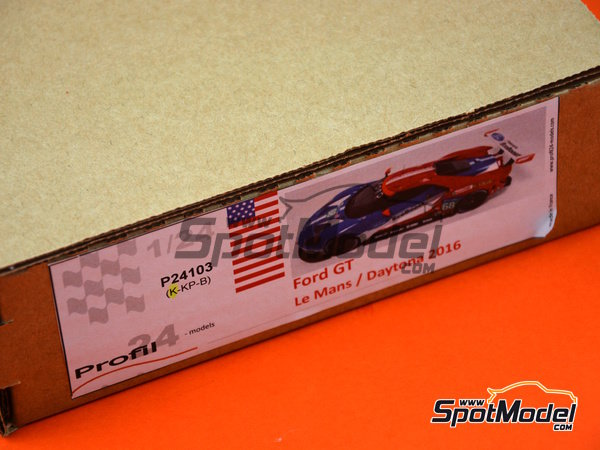 Image 14: Ford GT - 24 Hours Daytona, 24 Hours Le Mans 2016 | Model car kit in 1/24 scale manufactured by Profil24 (ref. P24103)