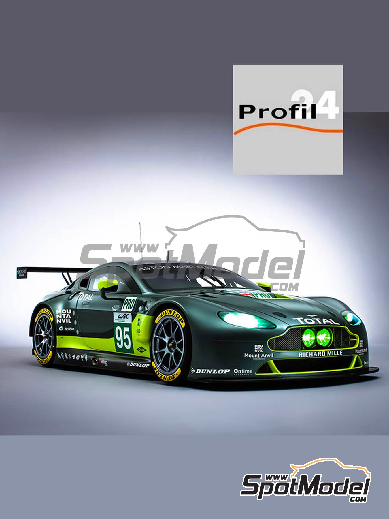 Aston Martin V8 Vantage GTE Aston Martin Racing - 24 Hours Le Mans 2017 | Model car kit in 1/24 scale manufactured by Profil24 (ref. P24107) image