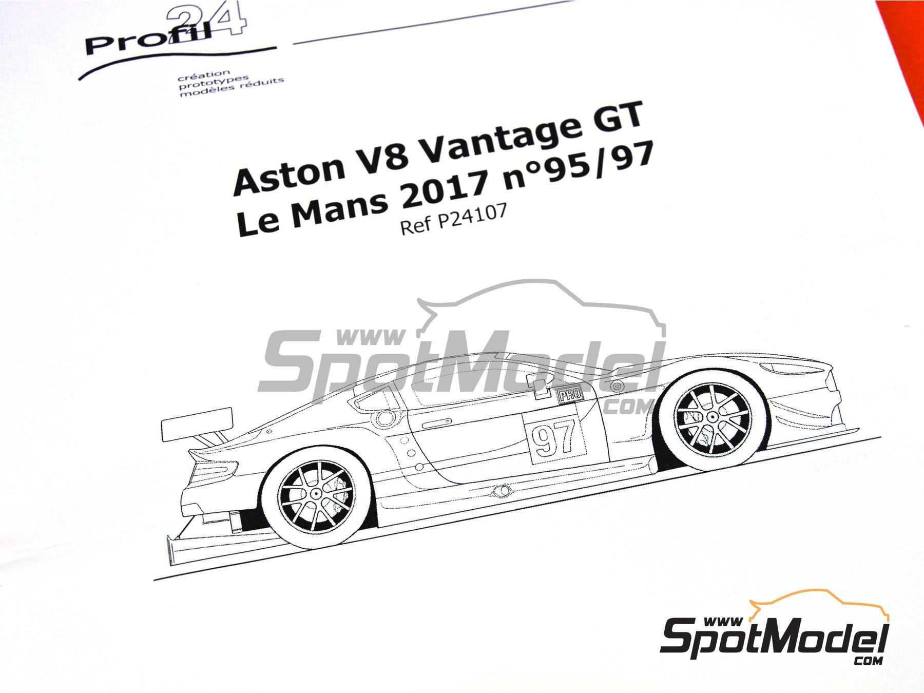 Image 11: Aston Martin V8 Vantage GTE Aston Martin Racing - 24 Horas de Le Mans 2017 | Maqueta de coche en escala1/24 fabricado por Profil24 (ref.P24107)
