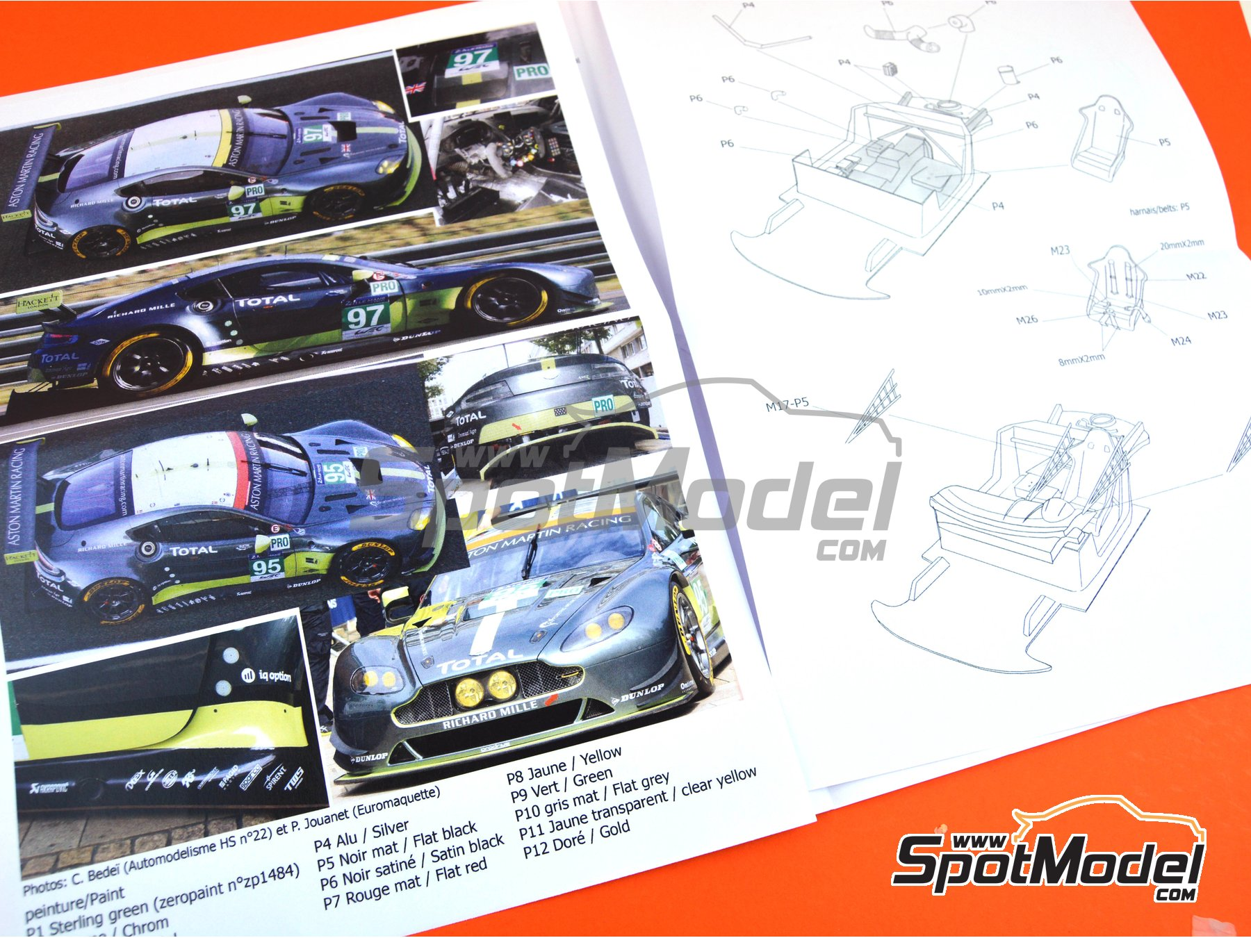 Image 12: Aston Martin V8 Vantage GTE Aston Martin Racing - 24 Hours Le Mans 2017 | Model car kit in 1/24 scale manufactured by Profil24 (ref. P24107)