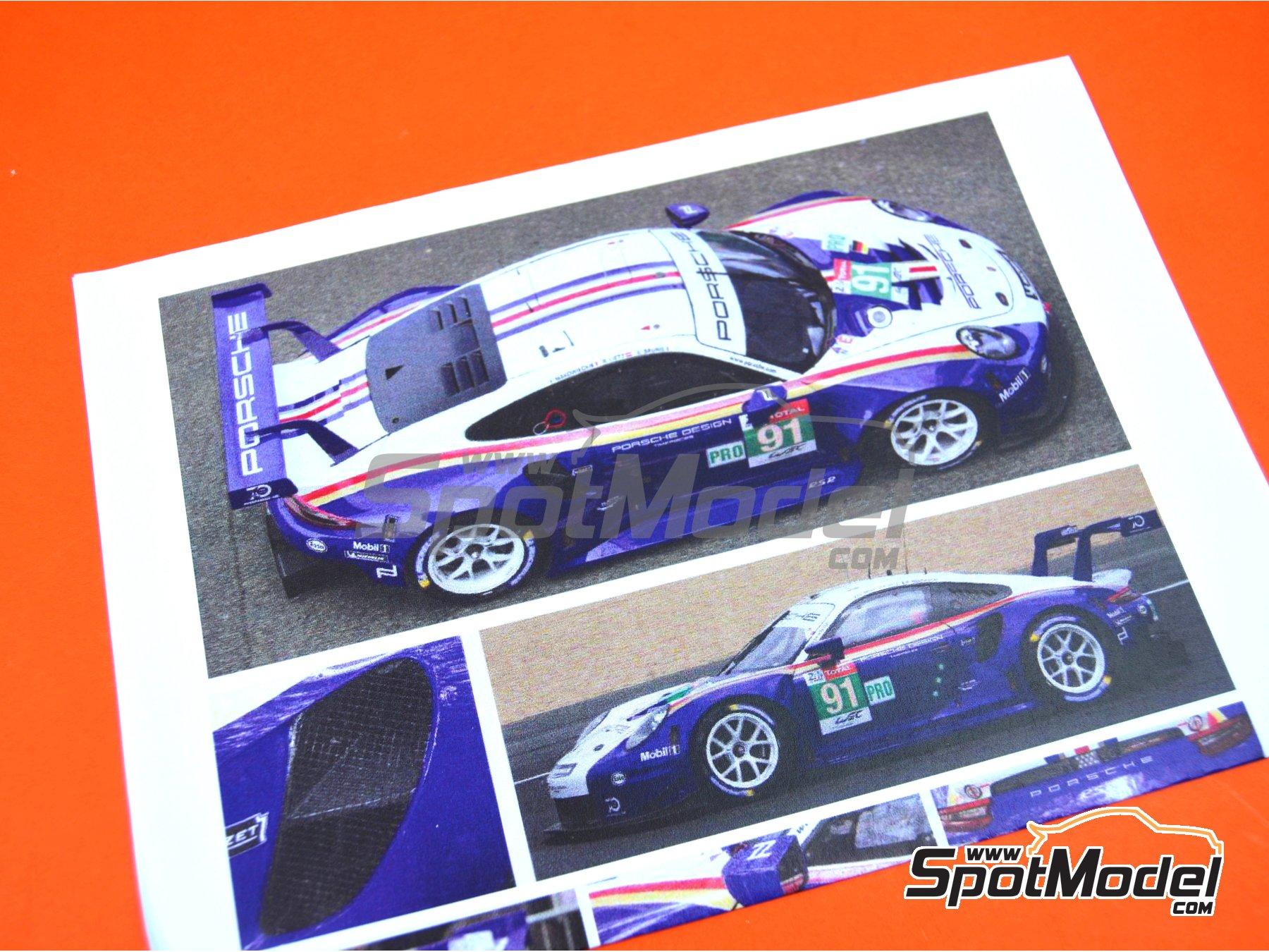 Image 3: Porsche 911 RSR Porsche Motorsport GT Team Rothmans - 24 Hours Le Mans 2018 | Model car kit in 1/24 scale manufactured by Profil24 (ref.P24111)