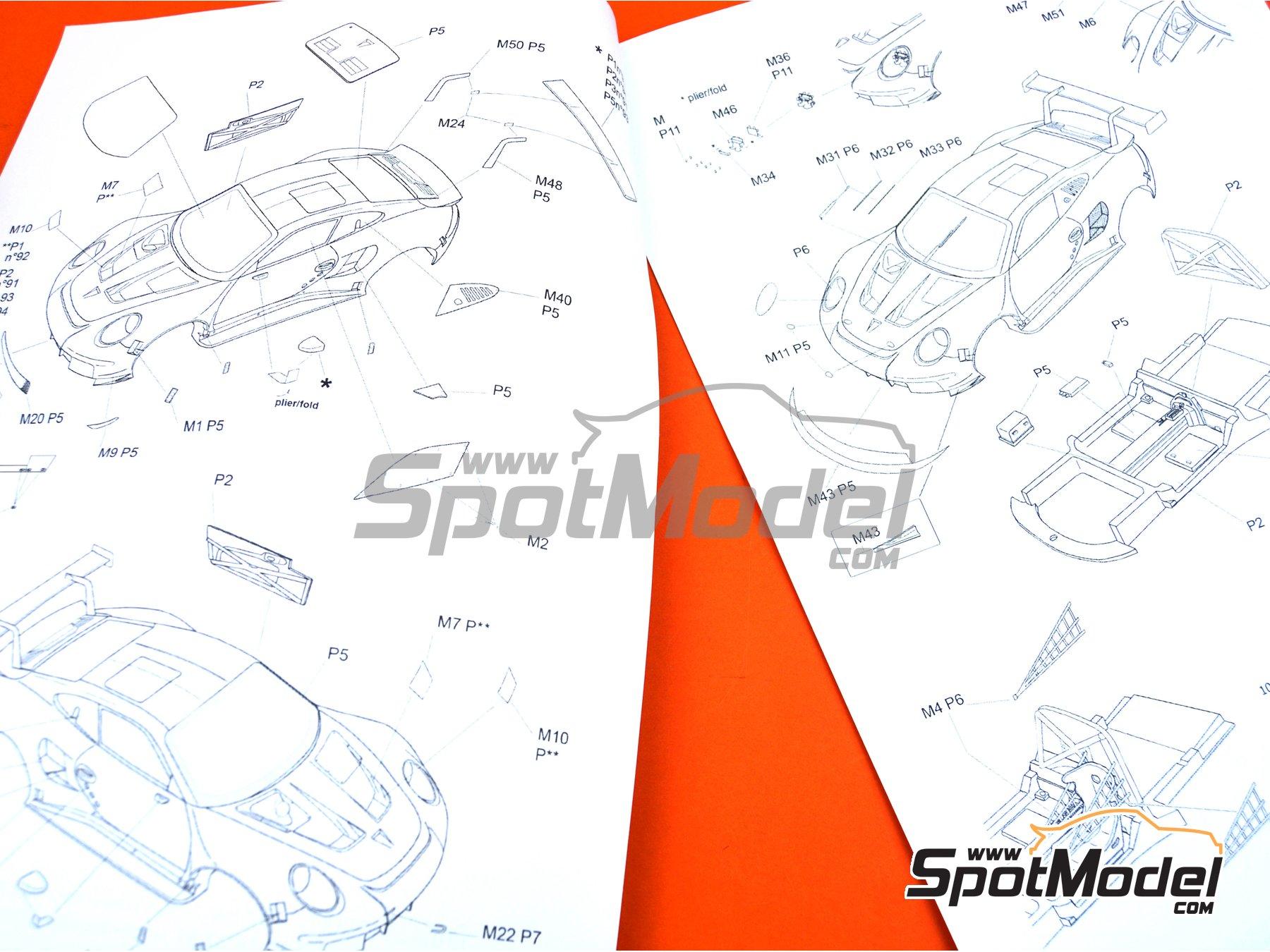 Image 5: Porsche 911 RSR Porsche Motorsport GT Team Rothmans - 24 Hours Le Mans 2018 | Model car kit in 1/24 scale manufactured by Profil24 (ref.P24111)