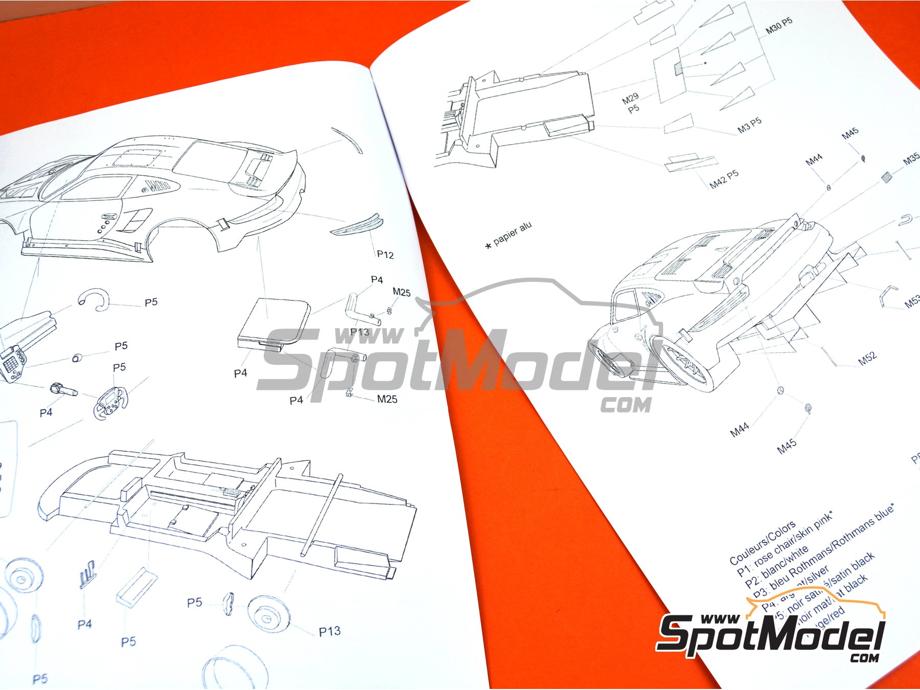 Image 6: Porsche 911 RSR Porsche Motorsport GT Team Rothmans - 24 Hours Le Mans 2018 | Model car kit in 1/24 scale manufactured by Profil24 (ref.P24111)