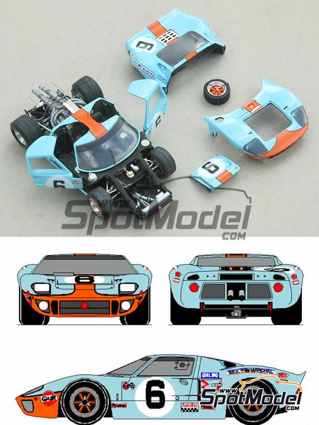 Ford Gt Hours Le Mans  Model Car Kit In