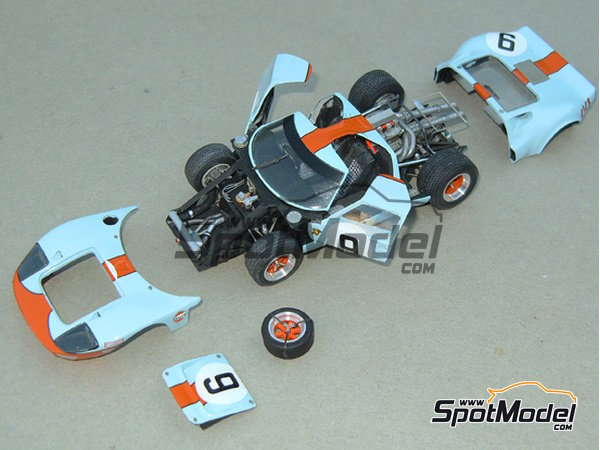 Image 1: Ford GT40 Gulf - 24 Hours Le Mans 1968 | Model car kit in 1/43 scale manufactured by Profil24 (ref.P4307)