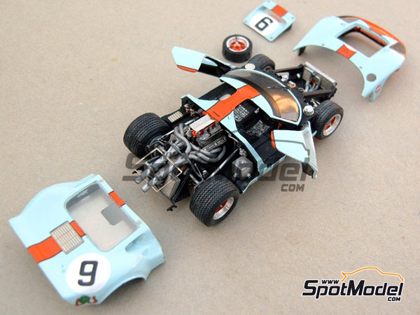 Image 3: Ford GT40 Gulf - 24 Hours Le Mans 1968 | Model car kit in 1/43 scale manufactured by Profil24 (ref.P4307)