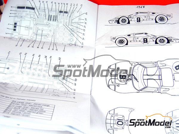 Image 24: Ford GT40 - 24 Horas de Le Mans 1968 | Maqueta de coche en escala1/43 fabricado por Profil24 (ref.P4307)