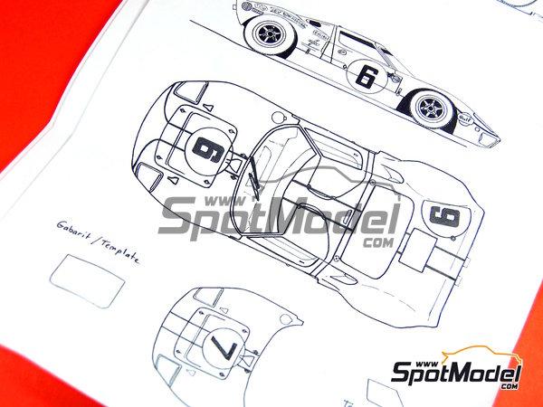 Image 25: Ford GT40 - 24 Horas de Le Mans 1968 | Maqueta de coche en escala1/43 fabricado por Profil24 (ref.P4307)