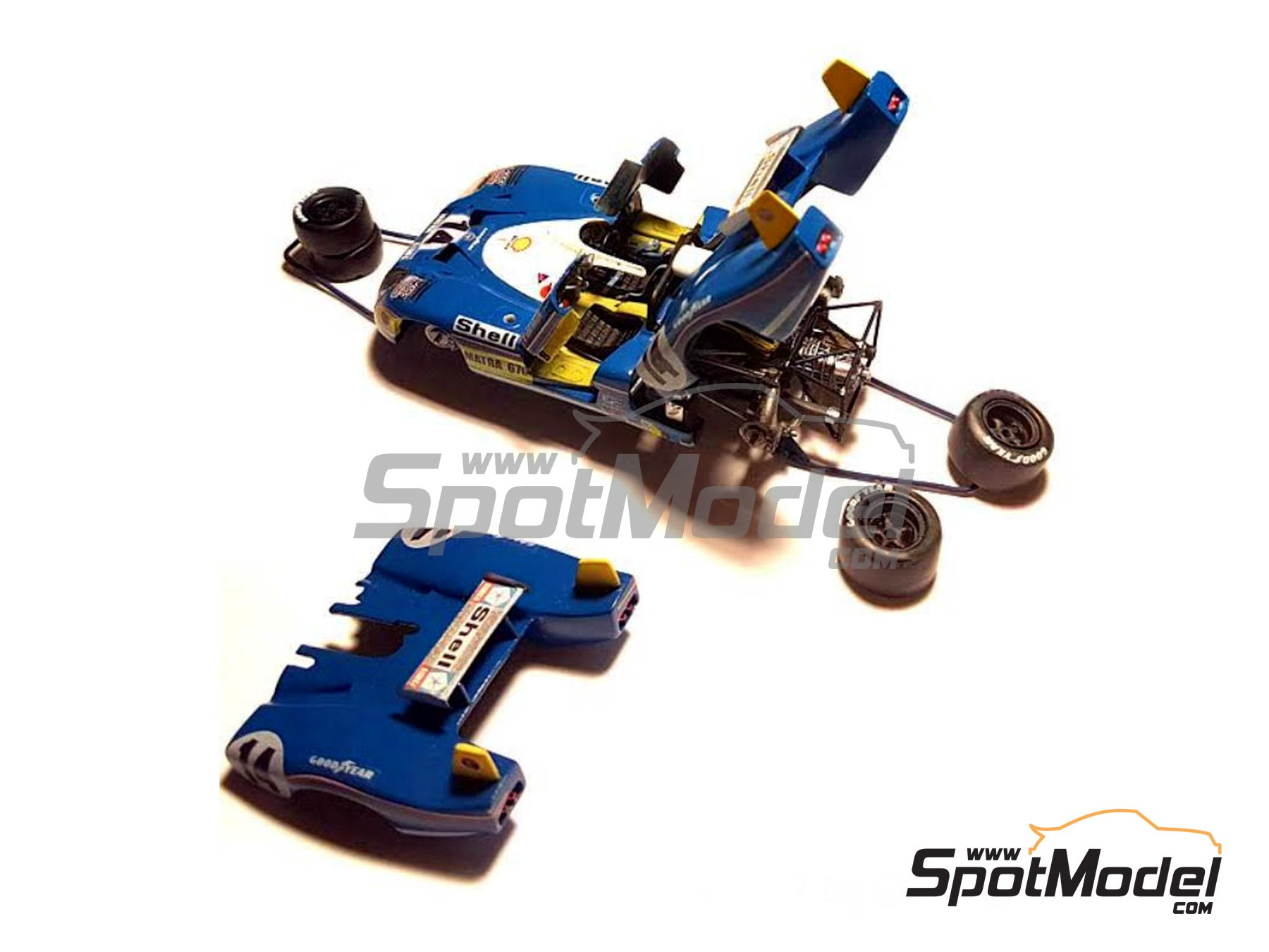 Image 2: Matra-Simca MS670 Shell - 24 Hours Le Mans 1973 | Model car kit in 1/43 scale manufactured by Profil24 (ref. P4314K)