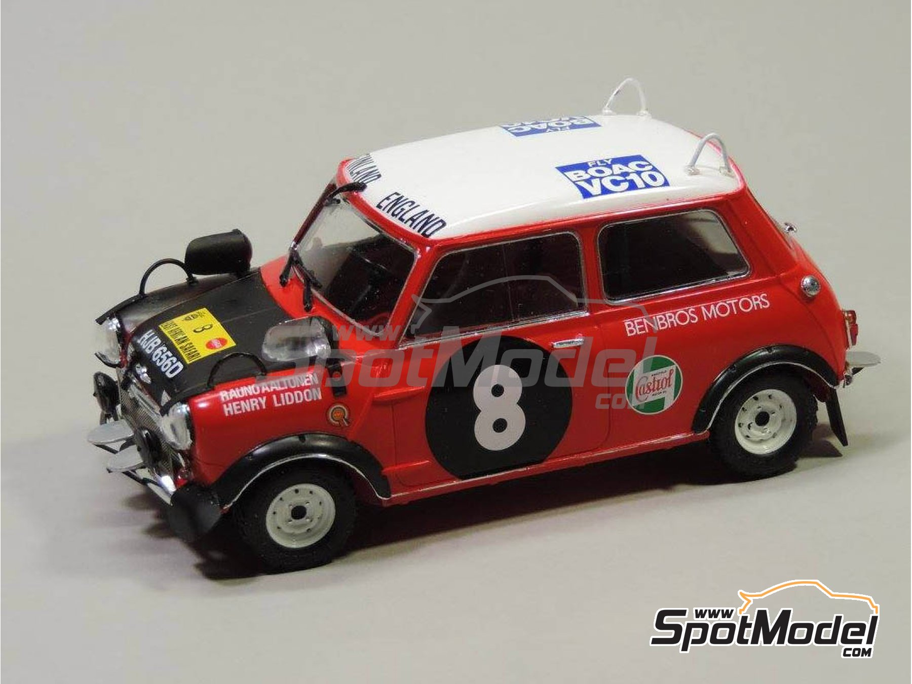 Image 8: Mini Cooper - Safari Rally, British Touring Car Championship (BTCC) 1967 and 1969 | Marking / livery in 1/24 scale manufactured by Quartet (ref. D-16)