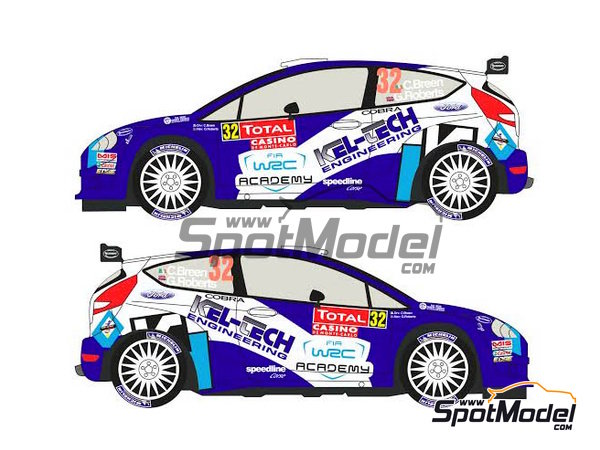 Image 2: Ford Fiesta S2000 Kel-Tech - Montecarlo Rally 2012 | Decals in 1/24 scale manufactured by Racing Decals 43 (ref. RD24-004)