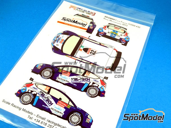 Image 3: Ford Fiesta S2000 Kel-Tech - Montecarlo Rally 2012 | Decals in 1/24 scale manufactured by Racing Decals 43 (ref. RD24-004)