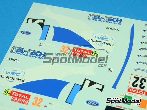 Image 5: Ford Fiesta S2000 Kel-Tech - Montecarlo Rally 2012 | Decals in 1/24 scale manufactured by Racing Decals 43 (ref. RD24-004)