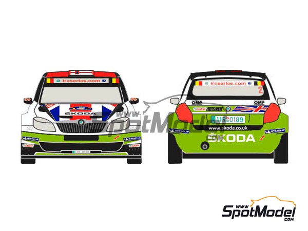 Image 1: Skoda Fabia S2000 Evo Total - Ypres Rally 2012 | Decals in 1/24 scale manufactured by Racing Decals 43 (ref. RD24-010)