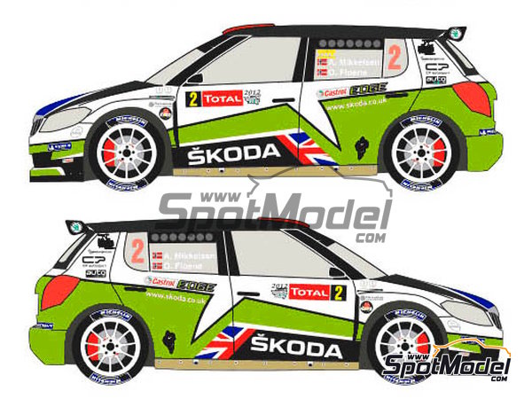 Image 3: Skoda Fabia S2000 Evo Total - Ypres Rally 2012 | Decals in 1/24 scale manufactured by Racing Decals 43 (ref. RD24-010)