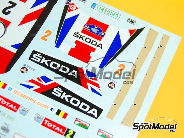 Image 7: Skoda Fabia S2000 Evo Total - Ypres Rally 2012 | Decals in 1/24 scale manufactured by Racing Decals 43 (ref. RD24-010)