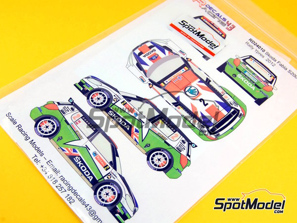 Image 9: Skoda Fabia S2000 Evo Total - Ypres Rally 2012 | Decals in 1/24 scale manufactured by Racing Decals 43 (ref. RD24-010)
