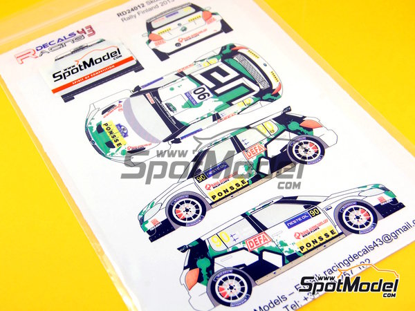 Image 4: Skoda Fabia S2000 Evo Ponsse - 1000 Lakes Finland Rally 2013 | Decals in 1/24 scale manufactured by Racing Decals 43 (ref. RD24-012)