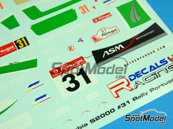 Image 7: Skoda Fabia S2000 New Zealand - Rally de Portugal 2012 | Calcas de agua en escala 1/24 fabricado por Racing Decals 43 (ref. RD24-017)