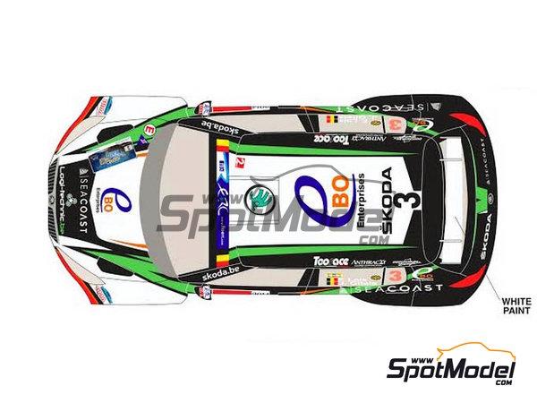 Image 2: Skoda Fabia S2000 Ebo Enterprises - Rally de Ypres de Belgica 2014 | Calcas de agua en escala1/24 fabricado por Racing Decals 43 (ref.RD24-018)