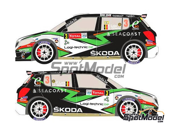 Image 3: Skoda Fabia S2000 Ebo Enterprises - Rally de Ypres de Belgica 2014 | Calcas de agua en escala1/24 fabricado por Racing Decals 43 (ref.RD24-018)