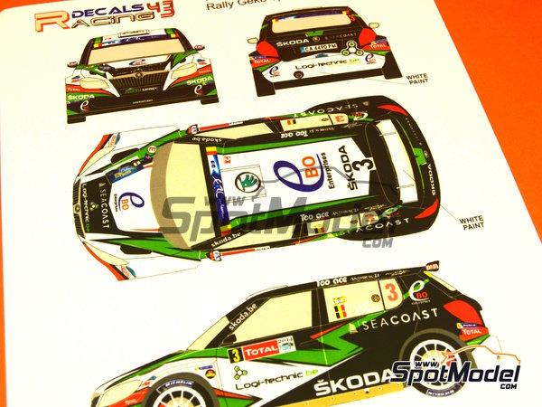 Image 5: Skoda Fabia S2000 Ebo Enterprises - Rally de Ypres de Belgica 2014 | Calcas de agua en escala1/24 fabricado por Racing Decals 43 (ref.RD24-018)