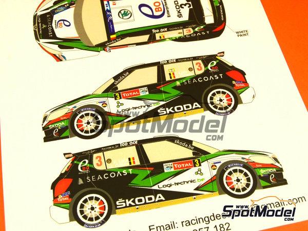 Image 6: Skoda Fabia S2000 Ebo Enterprises - Rally de Ypres de Belgica 2014 | Calcas de agua en escala1/24 fabricado por Racing Decals 43 (ref.RD24-018)